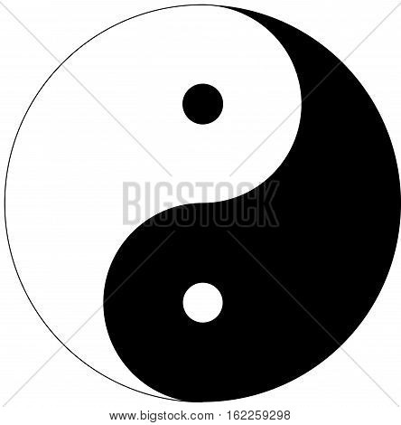 Yin Yang symbol over a white background