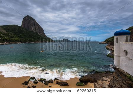 Red Beach is Rio de Janeiro One of the Famous Beaches With the View of Sugarloaf Mountain