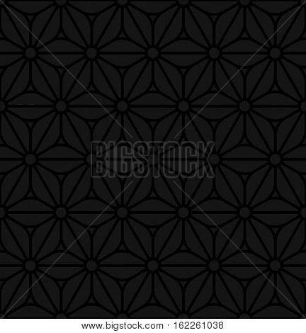 Floral ornament. Black Neutral Seamless Pattern for Modern Design in Flat Style. Tileable Geometric Vector Background.