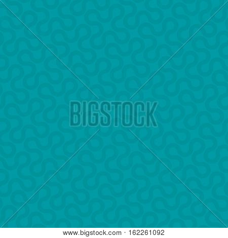 Turquoise Neutral Seamless Pattern for Modern Design in Flat Style. Tileable Geometric Vector Background.