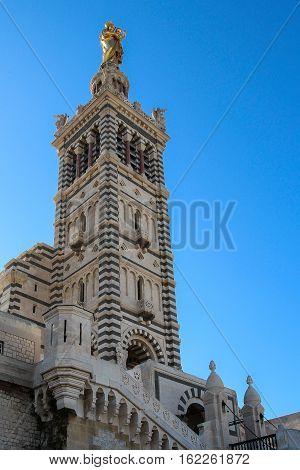 Basilica Notre Dame De La Garde In Marseille