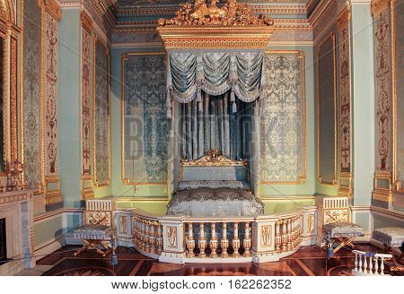 Gatchina, Russia - 3 December, The front bedchamber Gatchina Palace, 3 December, 2016. Visit the Museum Reserve Gatchina Palace.