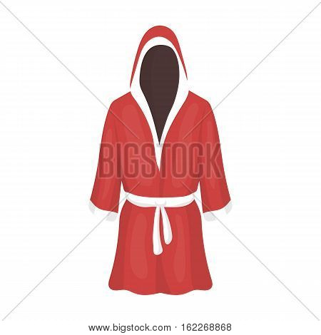 Boxing robe icon in cartoon style isolated on white background. Boxing symbol vector illustration.