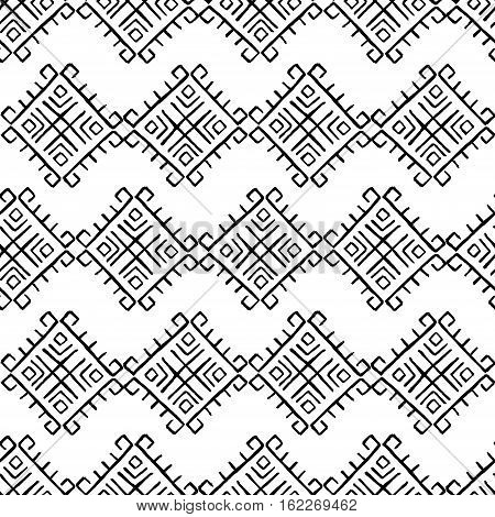 Tribal vintage ethnic abstract decorative seamless pattern