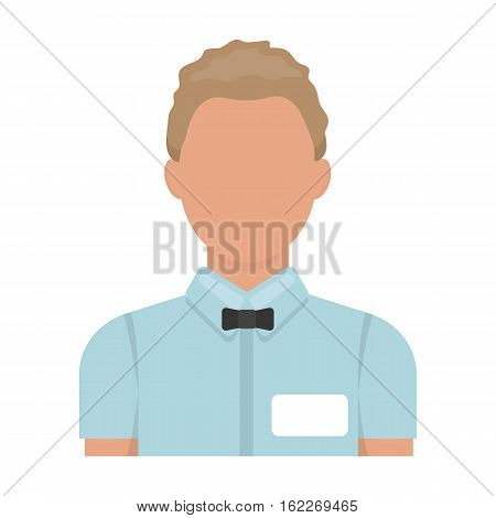 Boxing referee icon in cartoon style isolated on white background. Boxing symbol vector illustration.