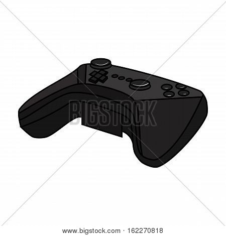 Game controller for the virtual reality icon in cartoon style isolated on white background. Virtual reality symbol vector illustration.