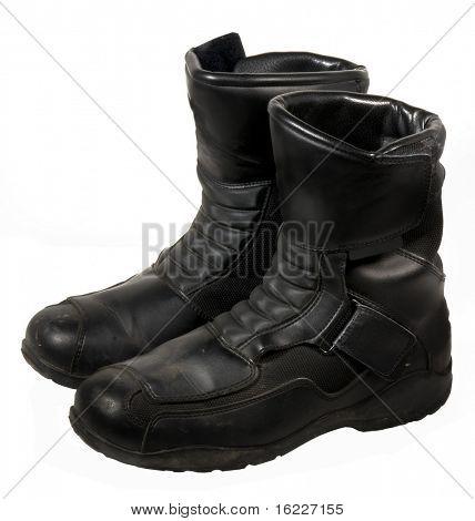 Heavy duty black leather bike books or work shoes