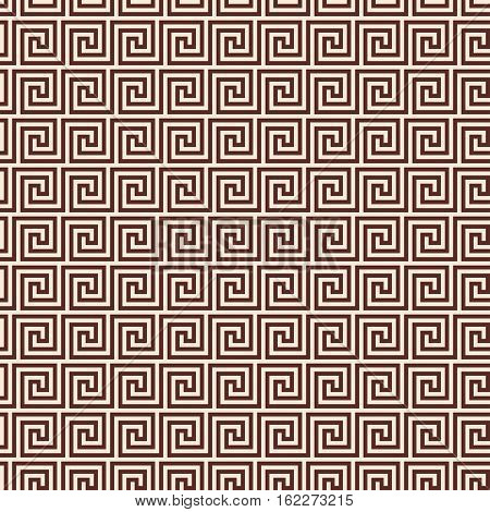 Vector seamless Greek style background. Brown pattern on a beige background.