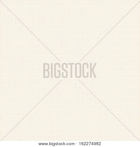 Vector Greek style background with beige ornament.