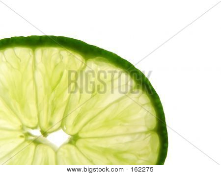 Close Up Of Lime Wedge