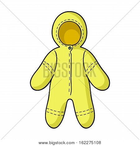 Baby bodysuit icon in cartoon style isolated on white background. Baby born symbol vector illustration.