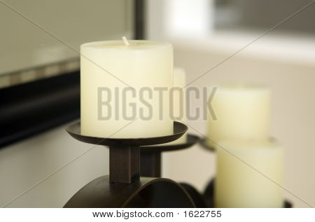 Cream Colored Candles