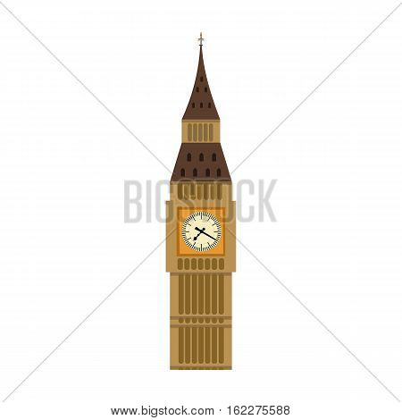 Big Ben icon in cartoon style isolated on white background. England country symbol vector illustration.