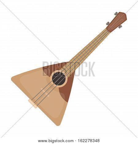 Balalaika icon in cartoon design isolated on white background. Russian country symbol stock vector illustration.