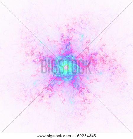 Pink blue decorative fantasy shining decorative flower