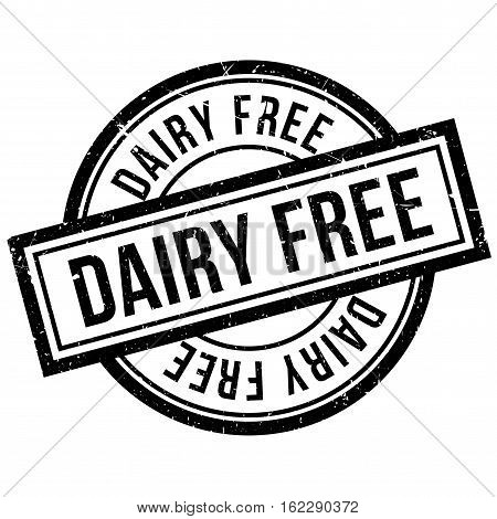 Dairy Free rubber stamp. Grunge design with dust scratches. Effects can be easily removed for a clean, crisp look. Color is easily changed.