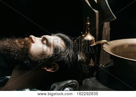 Bearded Man Ready For Shave