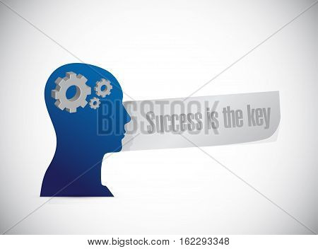 Success Is The Key Brain Sign Concept