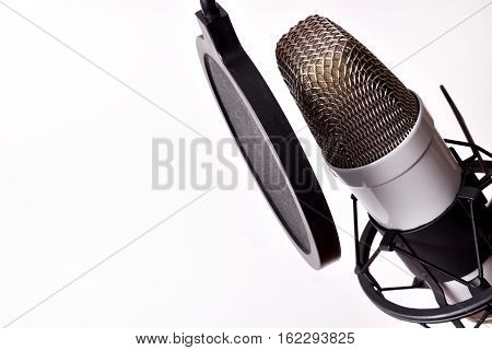 Studio Condenser Microphone And Equipment Isolated