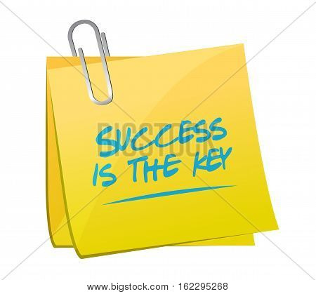 Success Is The Key Memo Post Sign Concept