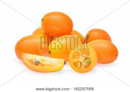 kumquatcumquat fruit isolated on the white background
