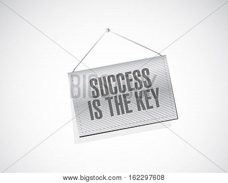 Success Is The Key Banner Sign Concept