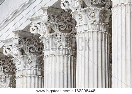 old Greek pillars in Athens in Greece
