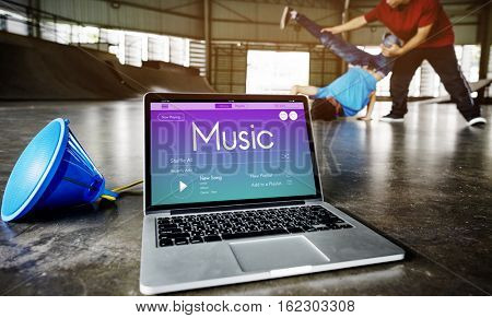 Music Workout Motivation Strength Concept