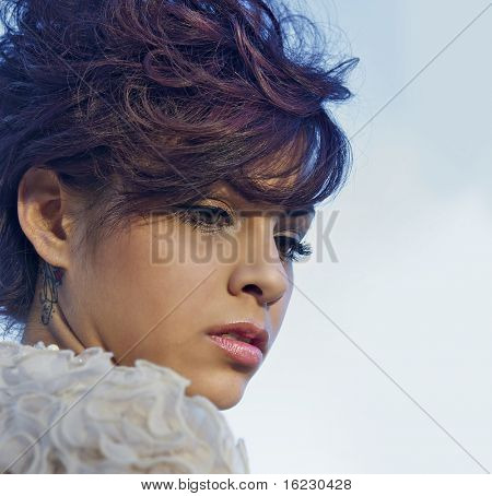 Glamor portrait of young beautiful model