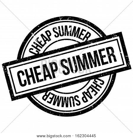 Cheap Summer rubber stamp. Grunge design with dust scratches. Effects can be easily removed for a clean, crisp look. Color is easily changed.