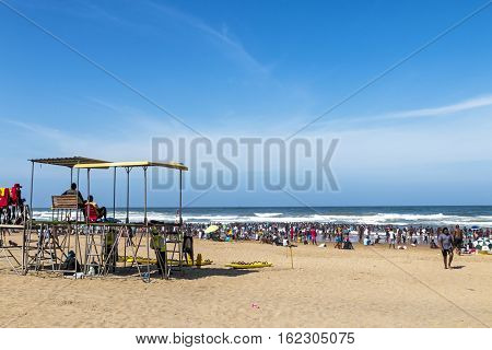 Many People On South Beach Durban