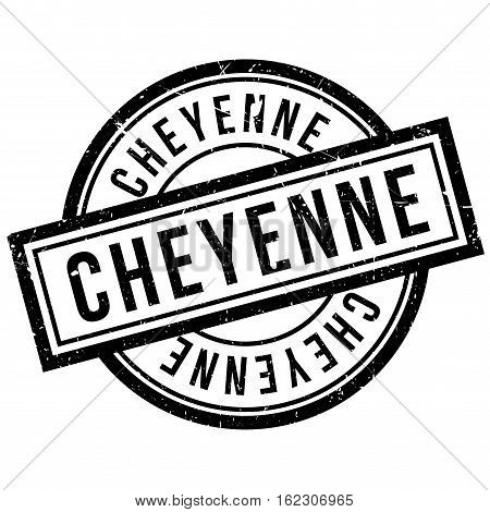 Cheyenne rubber stamp. Grunge design with dust scratches. Effects can be easily removed for a clean, crisp look. Color is easily changed.