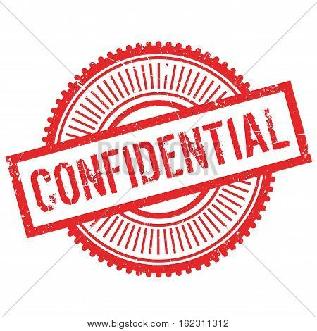 Confidential stamp. Grunge design with dust scratches. Effects can be easily removed for a clean, crisp look. Color is easily changed.