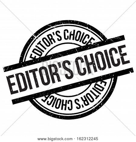 Editor's choice stamp. Grunge design with dust scratches. Effects can be easily removed for a clean, crisp look. Color is easily changed.