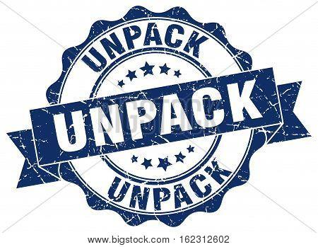 unpack. stamp. sign. seal. round. retro. ribbon