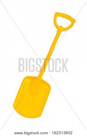 Yellow Shovel isolated on white background