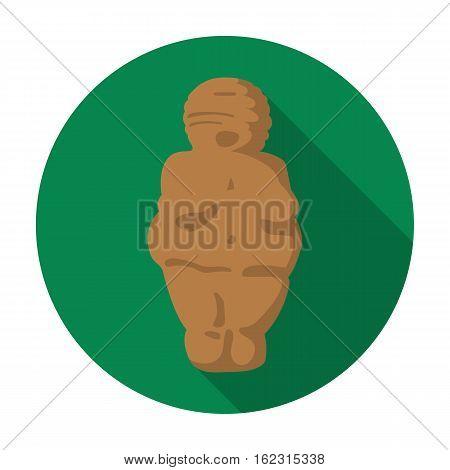 Venus of stone age icon in flat style isolated on white background. Stone age symbol vector illustration.