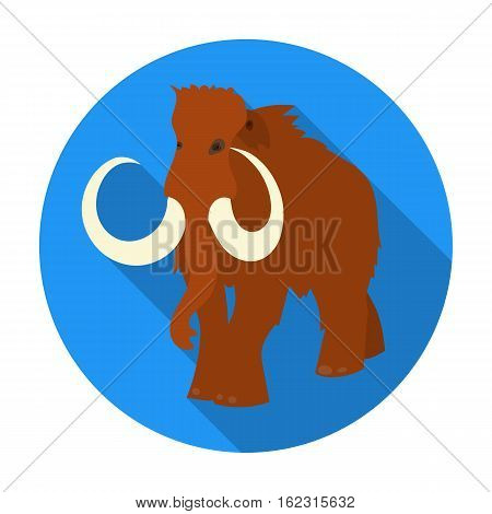 Woolly mammoth icon in flat style isolated on white background. Stone age symbol vector illustration.
