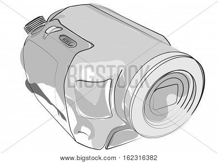 abstract camcorder isolated on a white background