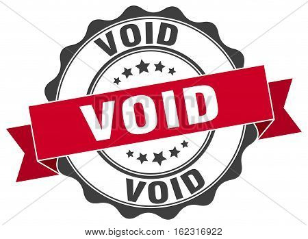 void. stamp. sign. seal. round. retro. ribbon