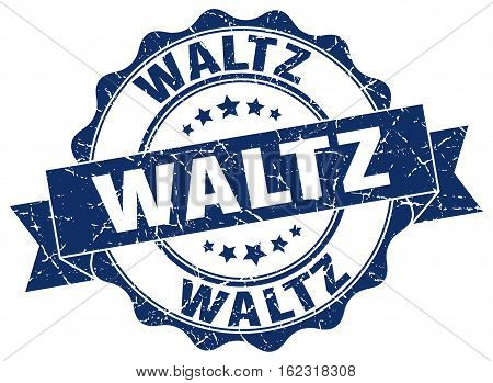 waltz. stamp. sign. seal. round. retro. ribbon