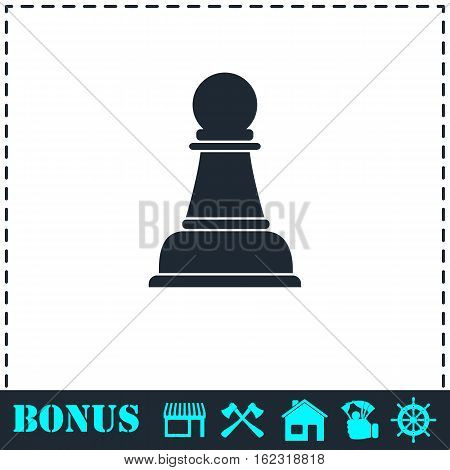 Chess icon flat. Simple vector symbol and bonus icon