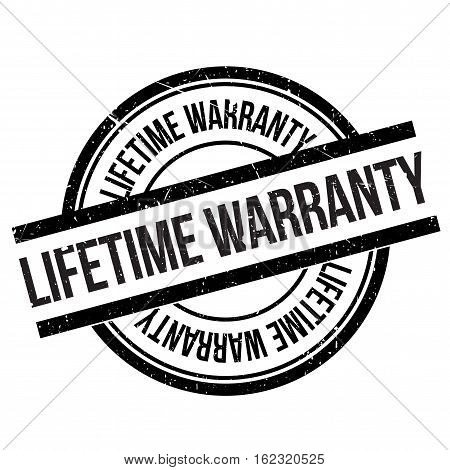 Lifetime warranty stamp. Grunge design with dust scratches. Effects can be easily removed for a clean, crisp look. Color is easily changed.