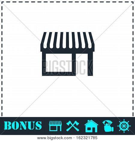Showcase icon flat. Simple vector symbol and bonus icon