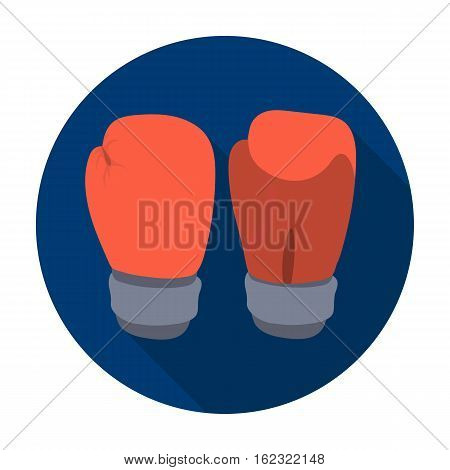 Boxing gloves icon in flat style isolated on white background. Boxing symbol vector illustration.
