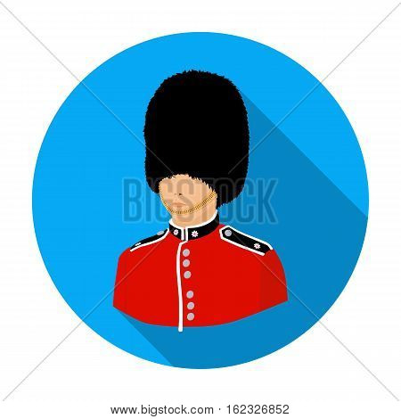 Queen's guard icon in flat style isolated on white background. England country symbol vector illustration.