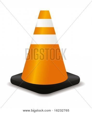 Traffic cone. Vector