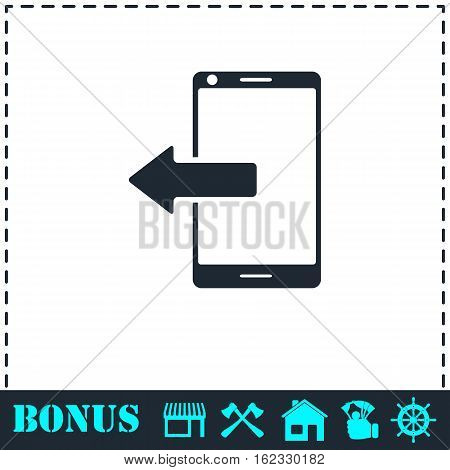 Outcoming calls icon flat. Simple vector symbol and bonus icon