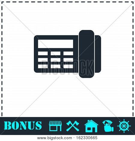 Fax icon flat. Simple vector symbol and bonus icon