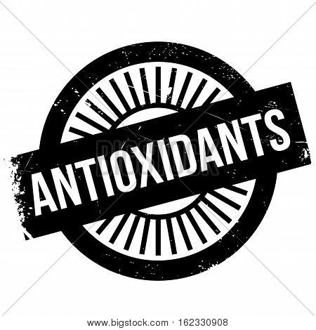 Antioxidants stamp. Grunge design with dust scratches. Effects can be easily removed for a clean, crisp look. Color is easily changed.